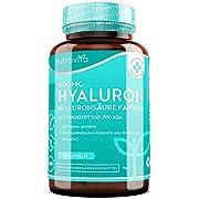 Hyaluronsäure Kapseln – Hochdosiert mit 600mg - 500-700 kDa – 90 vegane Hyaluron Kapseln – Laborgetestet in Deutschland – Hergestellt von Nutravita