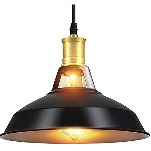 Asvert Suspension Luminaire Industrielle Lustre Industriel Vintage Eclairage Rétro Lampe Pendante Plafonnier en Métal Décoration d'Ambiance pour Chambre Cuisine Bar Loft Salon, Noir (sans ampoule)
