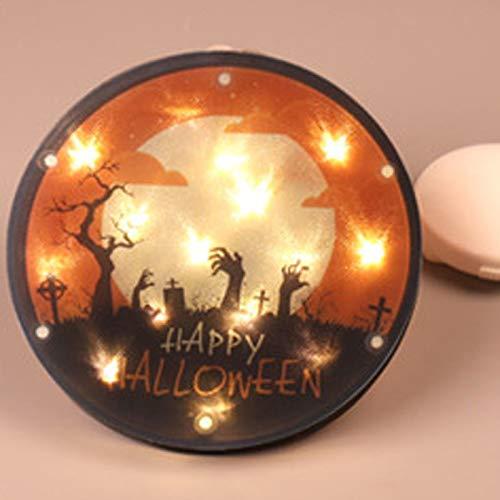 Chytaii Luz Colgante de Halloween Linterna de Halloween Decoración Genérica de Halloween de Luces LED, Cáscara de PVC, Ambiente de Halloween y Fácil Instalación