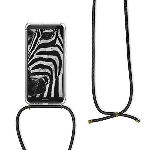 kwmobile Huawei Mate 10 Lite Hülle - mit Kordel zum Umhängen - Silikon Handy Schutzhülle für Huawei Mate 10 Lite - Transparent - 5