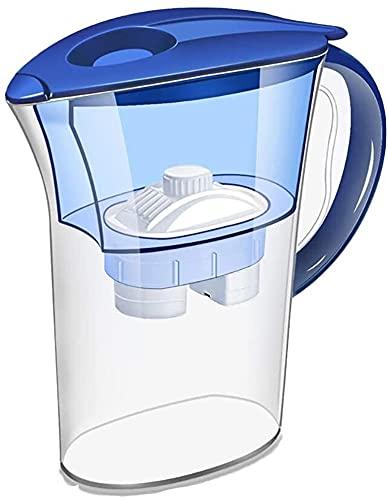 GDYJP Jarra de Filtro de Agua, Tanque de Agua alcalina de 2.5 litros con Filtro estándar, filtración de 4 Grado, no BPA, Purizando Agua para Eliminar la acidez, Respetuoso con el Medio Ambiente.