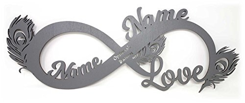 Liebe Geschenk für Frauen Freundin Led Unendlichkeit Zeichen Holz personalisiert mit Namen I Das perfekte Liebesgeschenk Valentinstagsgeschenke, zum Geburtstag oder Jahrestag Sie Ihn beide