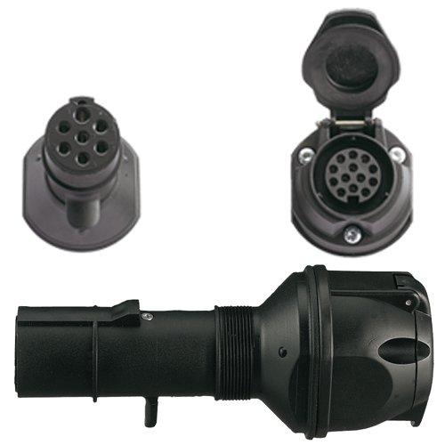 Spannungsreduzierer/Adapter LKW 7polig 24V > 13polig 12V PKW