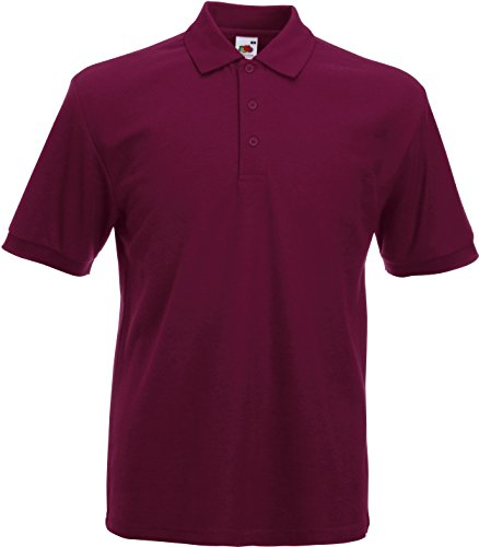 Fruite of the Loom Heavy Polo Shirt, vers. Farben L,Burgund
