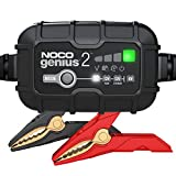 NOCO GENIUS2, 2-Amp Fully-Automatic Smart Charger, 6V and 12V Battery Charger, Battery Maintainer