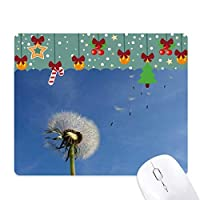青空の美しい白いタンポポ ゲーム用スライドゴムのマウスパッドクリスマス