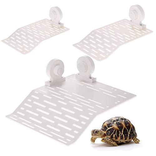 JJSJ Plataforma Tortuga Tortuga Terraza, Reptil Habitat Isla Flotante Muelle con Ventosa para Animales Semi Acuáticos (L)