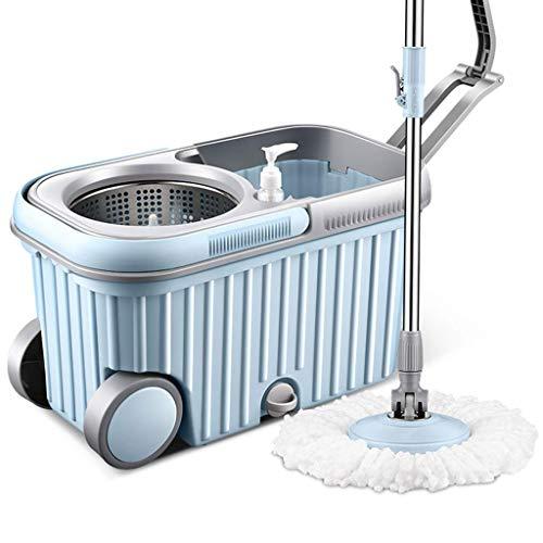 ZHTY MOP, Cubos Conjuntos de Limpieza Piso MOP Microfibra Mop Bucket Sistema de Limpieza Spinning Piso Mop Limpieza de la casa, Azul XPing (Color: Azul) Song (Color : Blue)