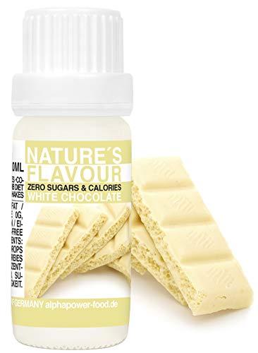 ALPHAPOWER FOOD aroma alimentare - cioccolato bianco naturale, 1x10ml gocce - liquido Flavdrops - Flavour Drops