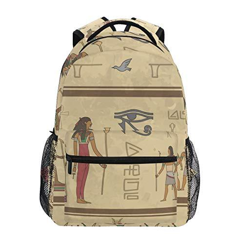Geroglifici Egizi Arte Zaino per Bambini Studente Scolastico Zaino da Bookbag Borsa Del Libro per Viaggio Teenager Ragazze Ragazzi Capretto