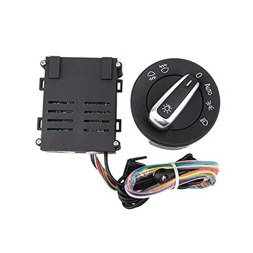 TIANKAI Allenzhang Coche Auto Automático Faro Sensor Perilla Interruptor Módulo Módulo Módulo Ajuste para Volkswagen Golf 4 Mk4 Jetta Mk4 Passat B5 Balo Bora Beetle T5 (Color : Black)
