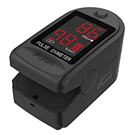 Trackaid pulse oximeter portable finger oxygen saturation and pulse rate monitor 1 note : the battery installation method has been updated. Please refer battery slot direction which is already indicated while placing battery installation. Light, compact & long battery life- light and compact, accommodates wide range of finger sizes, long battery life, automatic power off after 10 seconds. Loaded with accessories - include 2x aaa batteries that will allow you to use the device right out of the box and a lanyard for convenience.