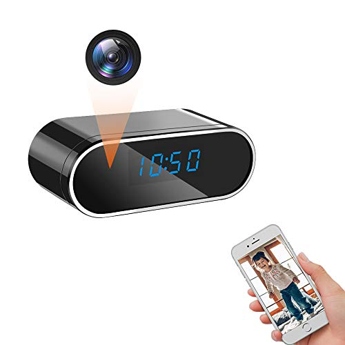 LXMIMI Telecamera Nascosta WiFi, 140° Grandangolare 1080P HD Telecamera Spia, Visione Notturna & Rilevamento del Movimento Telecamera Nascosta Orologio