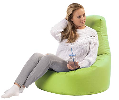 sunnypillow Gaming Sitzsack XXL mit Styropor Füllung Outdoor & Indoor für Kinder & Erwachsene Sitzsäcke Sitzkissen Bodenkissen viele Farben zur Auswahl Grün