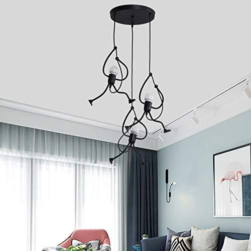 CCLLA Candelabros de Interior únicos, candelabros Negros de Metal pequeños creativos, candelabros Ajustables en Habitaciones de niños, dormitorios, restaurantes (tamaño: XL)