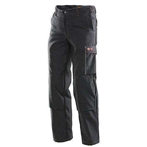 JOBMAN Workwear Welding Pants (38W X 30L, Black)