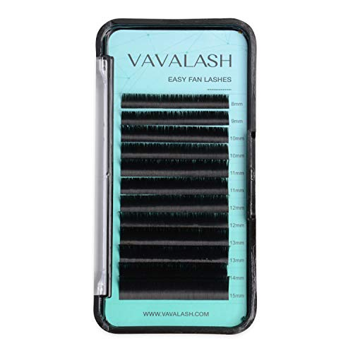 Eyelash Extension Supplies D Curl 0.07 Rapid Volume Lash Extensions Easy Fan 3D 4D 5D 6D 7D 10D Automatic Blooming Flower Lashes Self Fanning Lashes Russian Volume Individual Lashes (D-0.07,8-15mm)