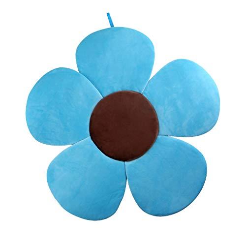 SODIAL Sonnen Blume Baby Bade Wanne Pad, Komfort Baby Bade Wanne Pad Bade Wanne Matte Baby Bade Wanne Support Liege für Neugeborene 0-6 Monate, Blau