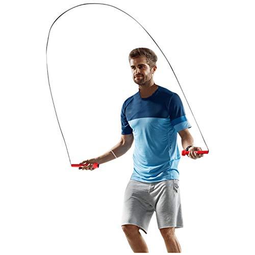 Speed Rope - 3 Meter - Springseil Sprungseil Hüpfseil Seil springen Premium für Boxen, Fitness, Crossfit,Intervalltraining & Double Unders