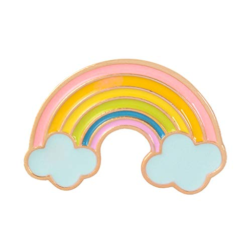 niumanery Creative Rainbow Bridge Brooch Pin Enamel Drop Oil Alloy Decorative Cartoon Lapel Pin Badge Denim Shirt Collar Jewelry Gift A