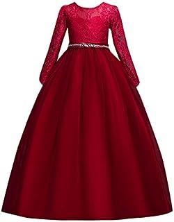 e1bcf2cac65 Susenstone Robe Enfant Mignon Fille Ceremonie Anniversaire De Princesse  d honneur Mariage avec Bowknot Longue