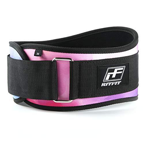RitFit Ceinture d'haltérophilie Rose 15,2 cm – Gym, fitness, crossfit, bodybuilding – Idéal pour les squats, les fentes, les soulevés de terre, les propulseurs