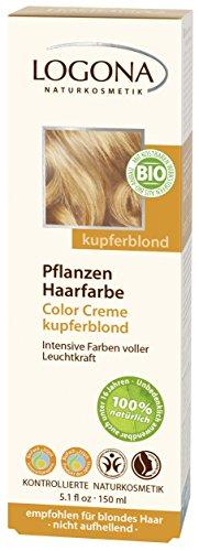 LOGONA Naturkosmetik Pflanzenhaarfarbe Creme 200 Kupferblond 1x(150g)