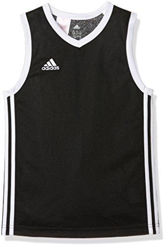 adidas Y COMMANDER J - Camiseta para niño, color negro / blanco, talla 128 (123 - 128 cm 63.5 - 64 cm 57.5 - 59 cm 66.5 - 68 cm 59 cm)