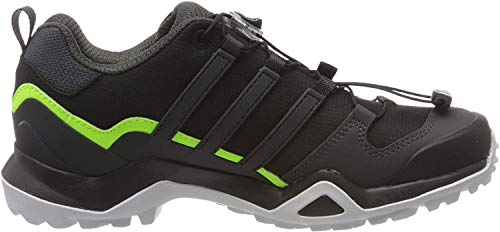 adidas Mens Terrex Swift R2 Walking Shoe, Core Black/Core Black/Signal Green, 42 2/3 EU