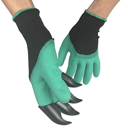 Gartengeräte EIN Paar isolierte Latex-Schutzhandschuhe mit Klauen ABS-Kunststoffhandschuhe zum Graben und Pflanzen, das Richtige mit Klauen für Gartenarbeit im Freien und Indoor