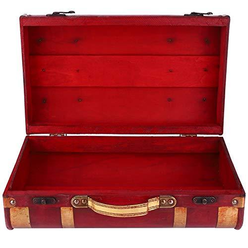 Caja de Madera Vintage, Caja de Madera para joyería Caja de Almacenamiento Decorativa Caja Decorativa de Madera para el hogar para joyería para Regalo para Mesa(1622-01-Rojo Phnom Penh-Pequeño, Azul)
