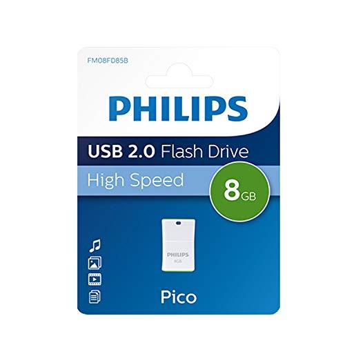 Philips Pico 2.0 Mini USB Stick 8GB – Kompakter Speicherstick 8 GB – Ideal für Benutzung im Auto