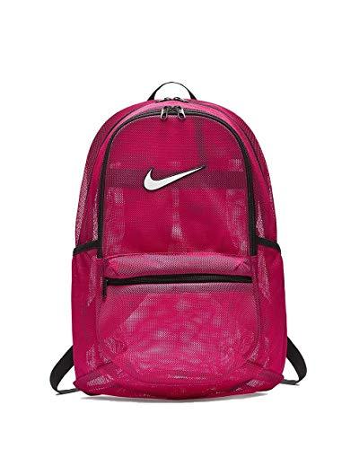 Nike Unisex-Erwachsene Nk Brsla Mesh Bkpk Rucksack, Pink (Rush Pink/Black/Whit), 15x24x45 Centimeters (W x H x L)