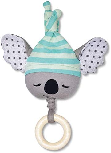 Organic Farm Buddies Kozy Koala Waggle Toy for Newborns, Infants, Toddlers - Hypoallergenic, 100% Organic Cotton