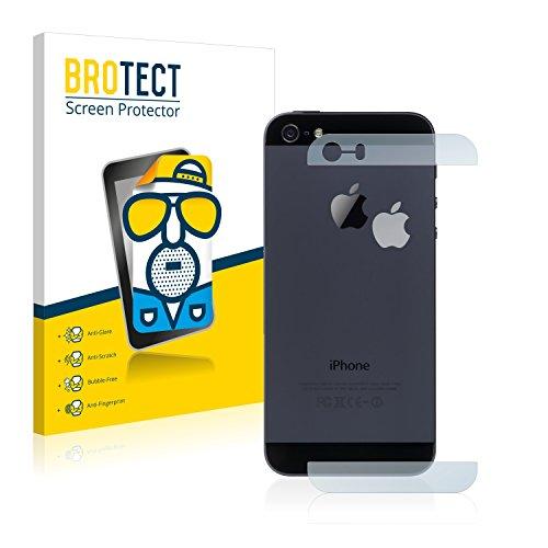 brotect Pellicola Protettiva Opaca Compatibile con iPhone 5   5S   5C   SE 2016 Posteriore (superfici di Vetro + Logo) Pellicola Protettiva (2 Pezzi)