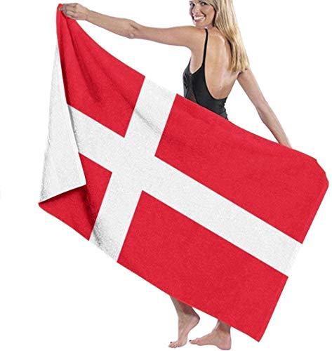 BAOYUAN0 Accesorios de bañoToalla de baño Bandera danesa Toalla de Playa para s Toalla de Piscina Toalla de baño