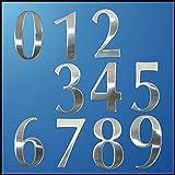 Numeros casa exterior 0-9 Números Casa moderna de acero inoxidable Número de dígitos Etiqueta Placa sesión Tamaño 6.2 * 3.5 * 1.9cm Cartas puerta de la habitación Puerta Número (Color : Letter A)