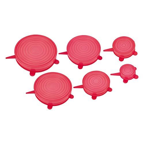 Cj. Tampas de Silicone 6 Pc, Sil5647-Vm, Euro, Vermelho