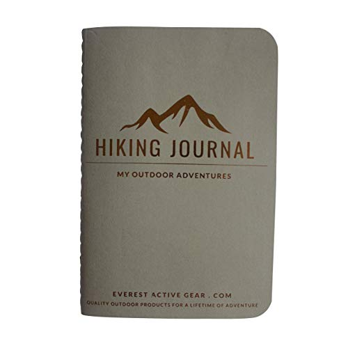 Everest Hiking Journal (1pc) 5 x 3 Mini Sized Lined Pocket Notebook - 52 pages (26 sheets) Soft Cover & Durable Trail Record For Hiking, Camping, Travel, & Outdoor Adventure Experience