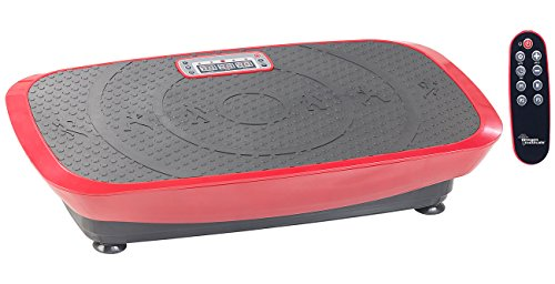 newgen medicals Vibratorplatte: Breite 3D-Vibrationsplatte WBV-600.3D, 500 Watt, 20 Frequenzen & Timer (Fitness-Vibrationsplatte)