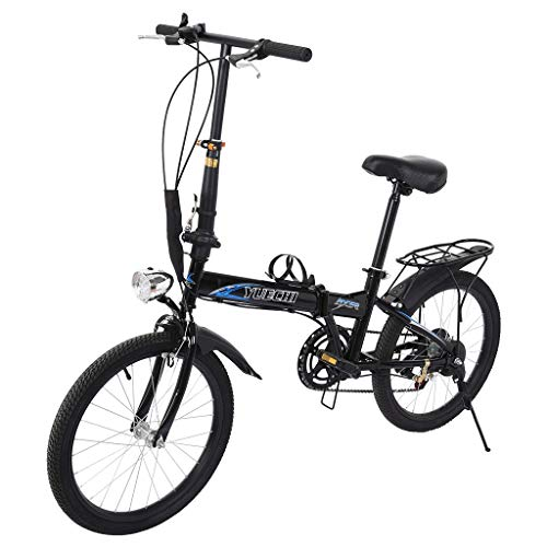 DD-home 20in 7 Speed ​​City Folding Bikes Leisure Mini Compact Bicycles for Students Office Workers Urban Commuters
