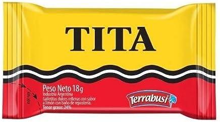 TITA Galletitas de Chocolate Rellenas con Sabor a Limon 18 gr. c/u.