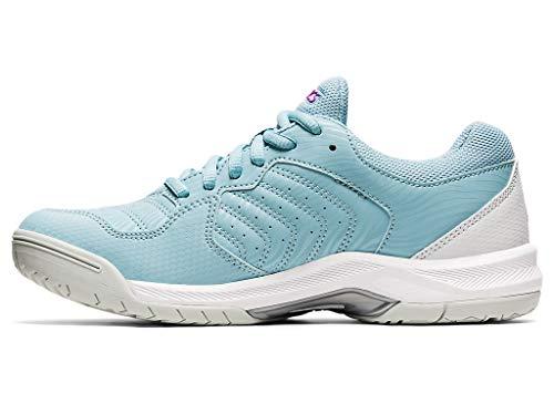 ASICS Women's Gel-Dedicate 6 Tennis Shoes, 8.5, Smoke Blue/White
