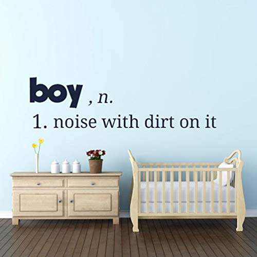 autocollant mural Boy Lettering Pattern For Nursery Kids Room Boys Decorate Living Room Poster Murals for nursery kids room