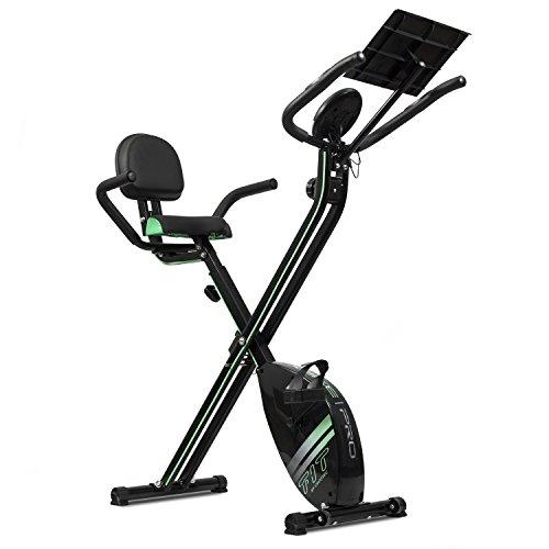 Cecotec Bicicleta Estática Plegable Magnética X-Bike Pro. Pulsómetro, Pantalla LCD, Resistencia Variable (8 niveles), Pedales de Máximo Agarre, 2,5kg Volante de Inercia.