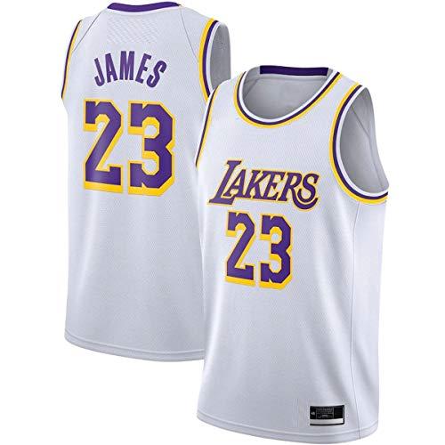 ERERT Camisetas de baloncesto personalizadas LeBron Los Angeles NO.23 Lakers James 2020/21 Swingman Jersey - Blanco - Edición de la Asociación