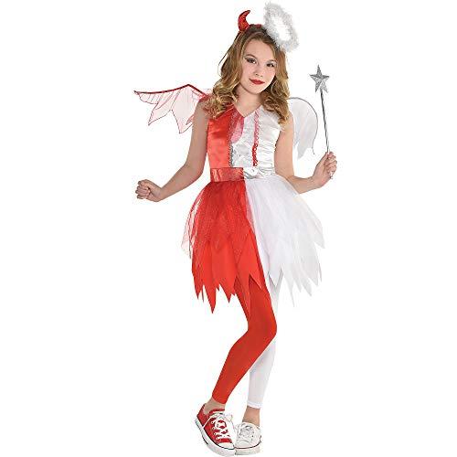 Girls Naughty & Nice Costume- Small (4-6), Multicolor