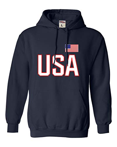 Go All Out X-Large Navy Blue Adult USA National Pride Sweatshirt Hoodie