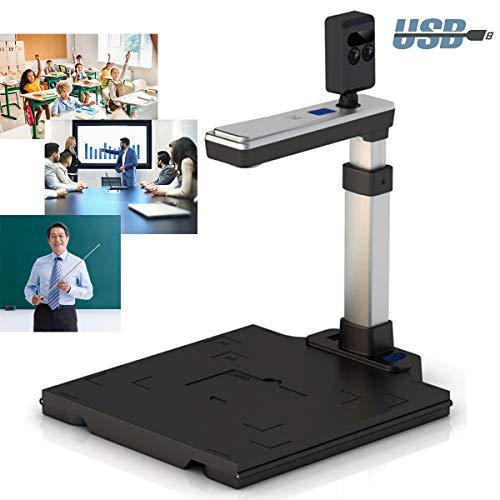 BELOVINGSHOP Document Camera, 5 Mega-Pixel High Definition USB Visualiser with Adjustable & Foldable Base, Scanner for Classroom, Office, in Home