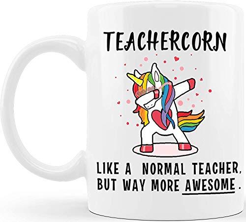 Huakaimaoyi Unicorn Mug Teacher Gifts,Teacher Thank You Gift Coffee Cup Tea Cup for Appreciation Office Birthday